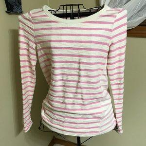 GAP pink and cream stripe sweatshirt, small